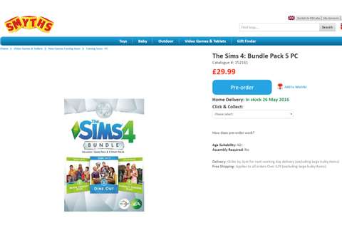 "First Details: The Sims 4 ""Dine Out"" Game Pack Listed on ..."