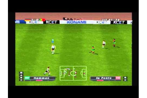 PS1 Game: ISS Pro Evolution Germany European Cup - YouTube