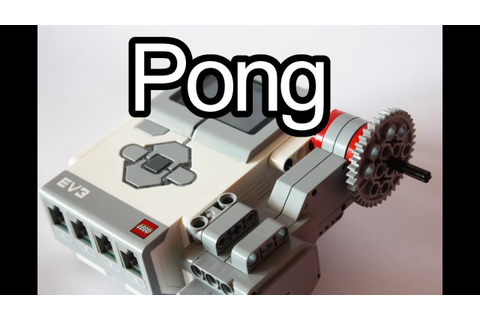 Pong game on LEGO Mindstorms EV3 - YouTube