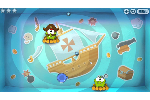 Cut the Rope: Time Travel -- Level 1-4 [Pirate Ship ...