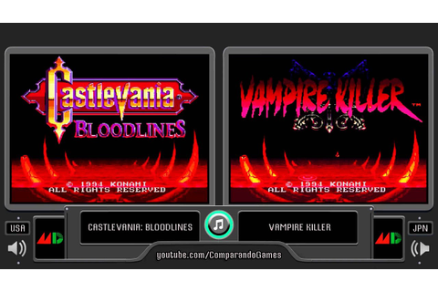 Regional Differences [14] Castlevania Bloodlines (Sega ...