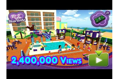 LEGO Friends Pool party game - YouTube