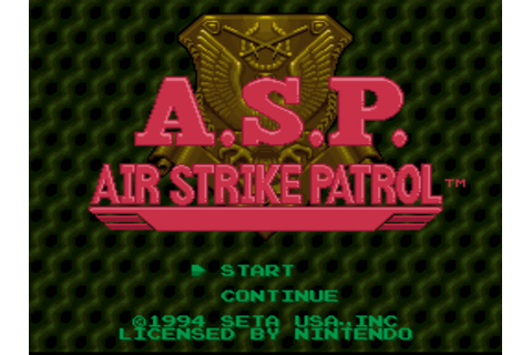 A.S.P.: Air Strike Patrol Screenshots | GameFabrique