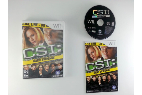 CSI Hard Evidence game for Wii (Complete) | The Game Guy