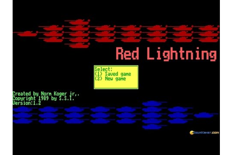 Red Lightning gameplay (PC Game, 1989) - YouTube