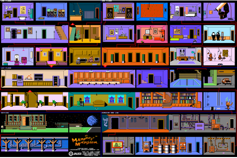 Retrogaming Game Maps: Maniac Mansion (NES) | Recycled ...