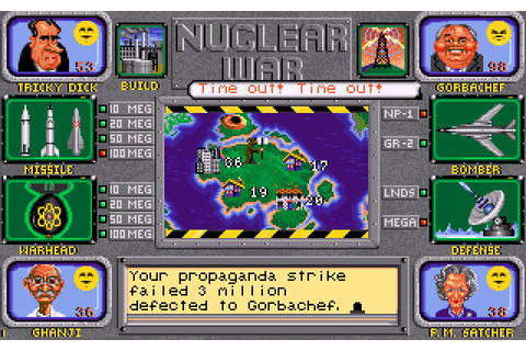 Nuclear War (1989) - MS-DOS Games Online