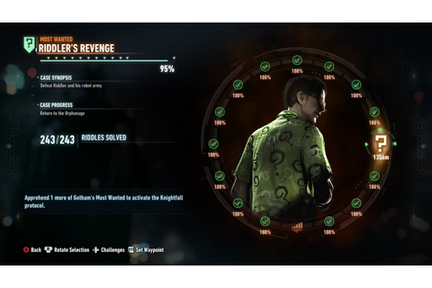 Batman Arkham Knight Riddler's Revenge Last Mission Save ...