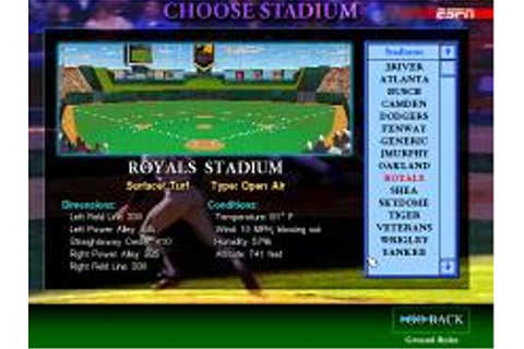 ESPN Baseball Tonight Download (1994 Sports Game)