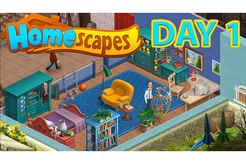 HOMESCAPES Gameplay ( Android | iOS ) - DAY 1 Walkthrough ...