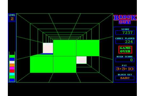 DOS Game: Blockout - YouTube
