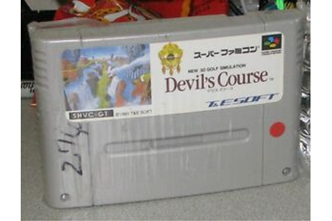 Nintendo Super Famicom Devil's Course Game Tested US ...