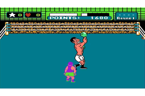 1987 Mike Tyson's Punch-Out NES Old School retro game ...