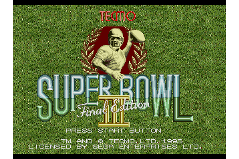 Tecmo Super Bowl III - Final Edition (USA) ROM