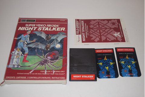 NIGHT STALKER Intellivision INTV Game Cartridge COMPLETE ...