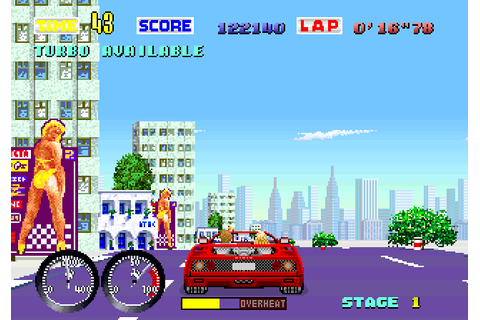 Turbo OutRun (1989) Arcade game