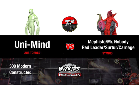 T3 - Uni-Mind vs Mephisto/Mr.Nobody/Red Leader [HeroClix ...