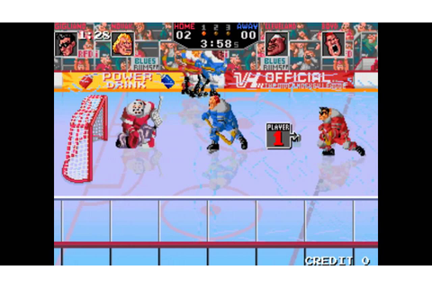 Hit the Ice {Williams & Taito} - [1990] - Game Play - YouTube