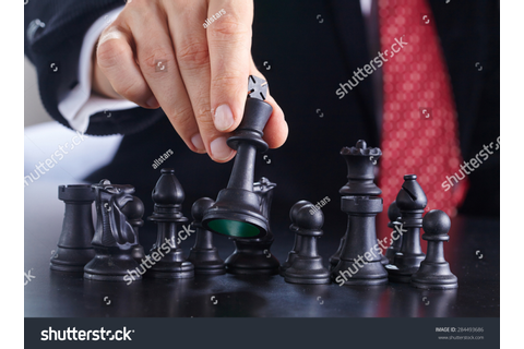 Businessman Playing Chess Game Stock Photo 284493686 ...