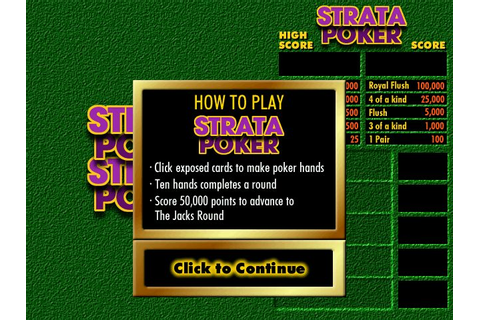 Strata Poker (1998) by eGames Windows game