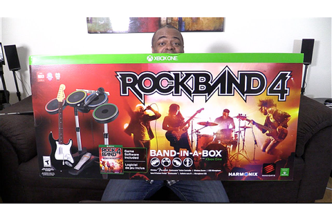 ROCK BAND 4 UNBOXING & I PLAY/SING! [Xbox One] - YouTube