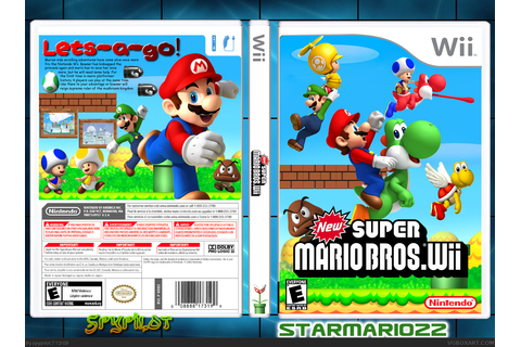 New Super Mario Bros. Wii Wii Box Art Cover by spypilot