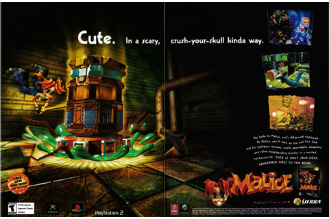 "Video Game Print Ads — ""Malice"" GamePro, December 2002 ..."