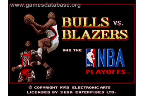 Bulls vs. Blazers and the NBA Playoffs - Sega Nomad ...