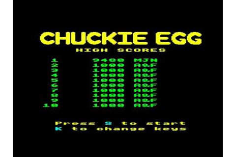 BBC Chuckie Egg game - YouTube