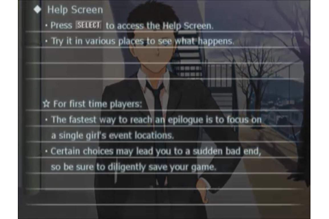 Amagami Game Footage | Anime Amino