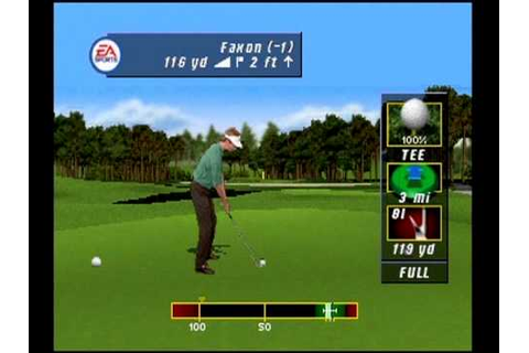 Tiger Woods PGA Tour Golf (2001) -- Playstation PS1 ...