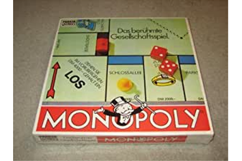 Amazon.com: Vintage 1985 German Edition Monopoly - Parker ...