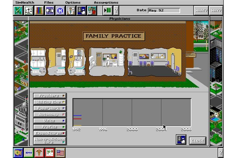 Download SimHealth simulation for DOS (1994) - Abandonware DOS