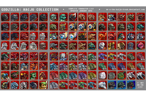 GODZILLA: KAIJU COLLECTION - COMPLETE CHARACTER...
