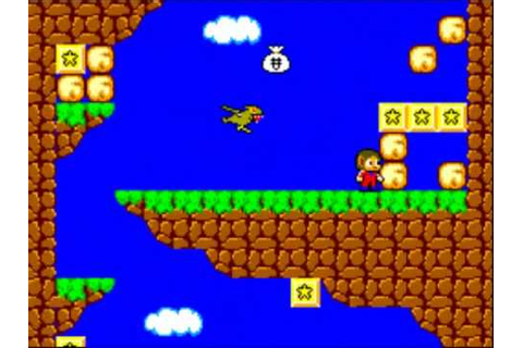 Alex the kidd in miracle world - Sega master system game ...