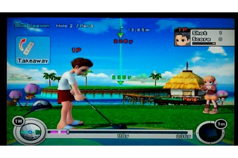 PangYa! Golf With Style Nintendo Wii Gameplay - YouTube