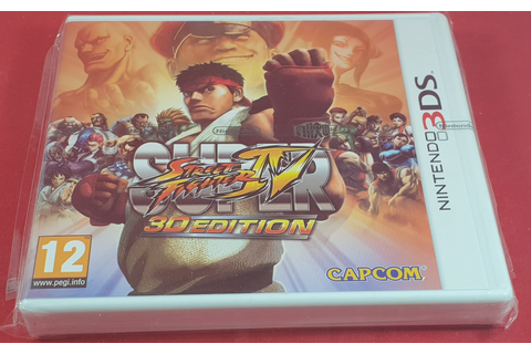 Brand New and Sealed Super Street Fighter IV 3D Edition ...