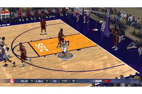 College Hoops 2K7 PlayStation 3 Gameplay - LSU Vs. Alabama ...