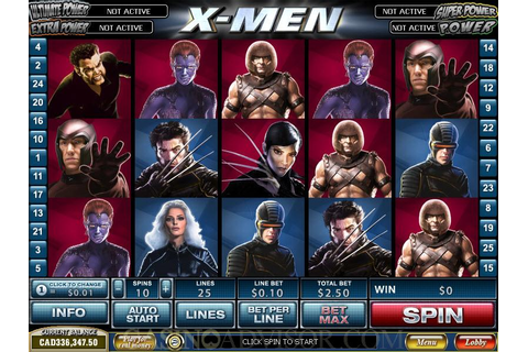 Cryptologic Marvel Theme X-Men Video Slot Game Review