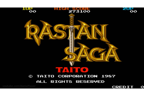 Rastan Saga 1987 Taito Mame Retro Arcade Games - YouTube