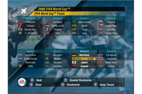 Groups | World Cup Mode - 2006 FIFA World Cup Germany Game ...