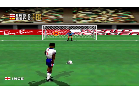 Three Lions Gameplay Friendly Match (PSX,PS) - YouTube