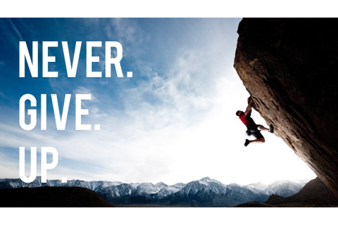 Never. Give. Up. - Motivational Video - YouTube
