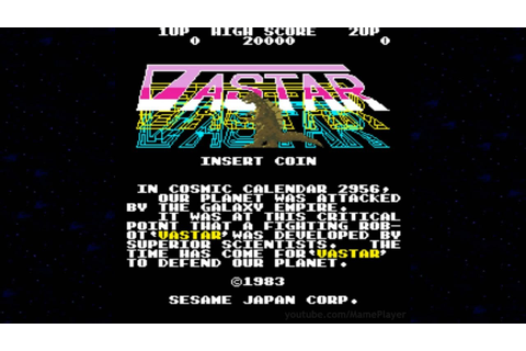 Vastar 1983 Sesame Japan Mame Retro Arcade Games - YouTube
