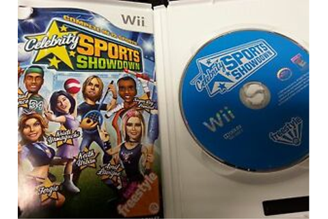 Wii Celebrity Sports Showdown Game 14633158205 | eBay