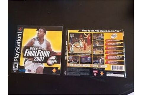 NCAA Final Four 2001, PlayStation 1 Game Case Inserts ...