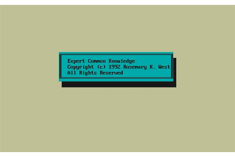 Expert Common Knowledge Download (1992 Puzzle Game)