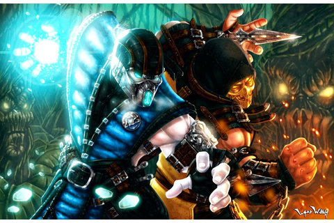 Wallpaper : Sub Zero, Mortal Kombat, comics, Scorpion ...