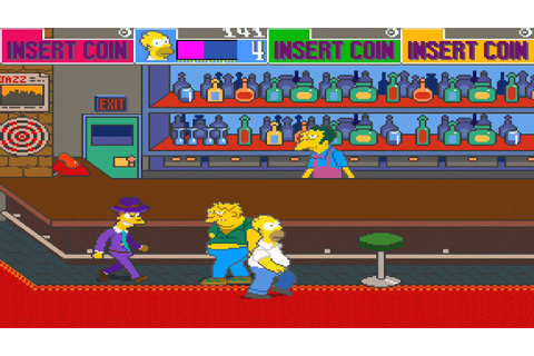 1991 The Simpsons Arcade Old School Game Playthrough Retro ...