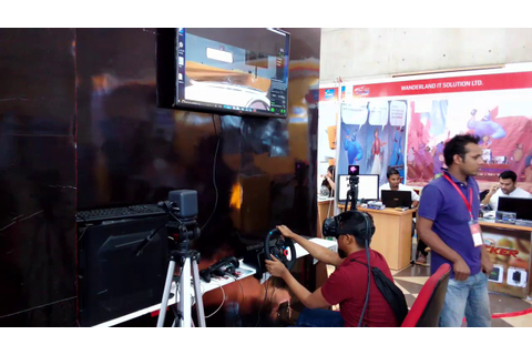 Playing 3D Car Racing Game at 2017 Dhaka Automotive Show ...